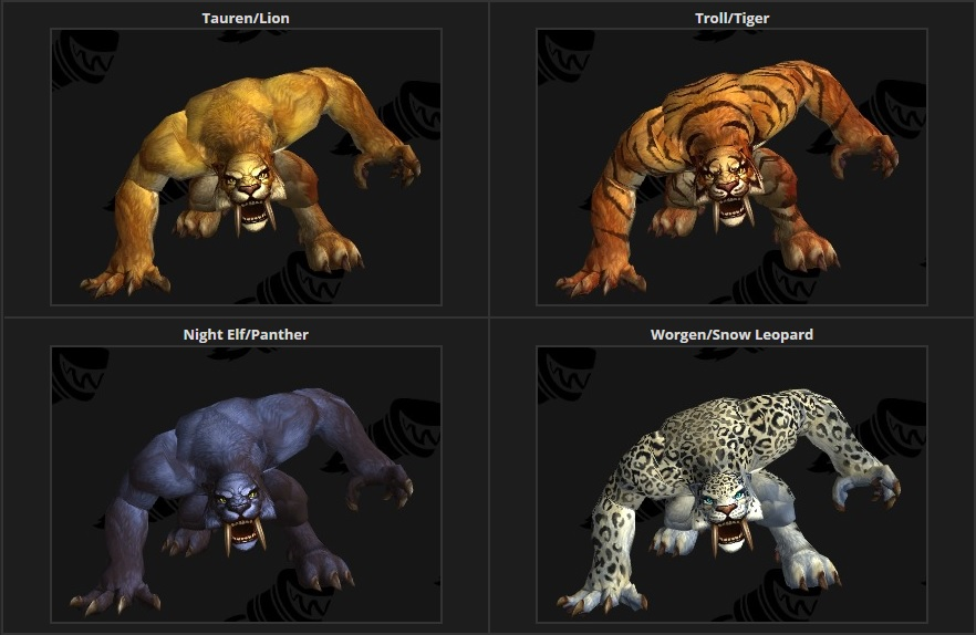 Druid forms without changing appearance? - World of Warcraft Forums
